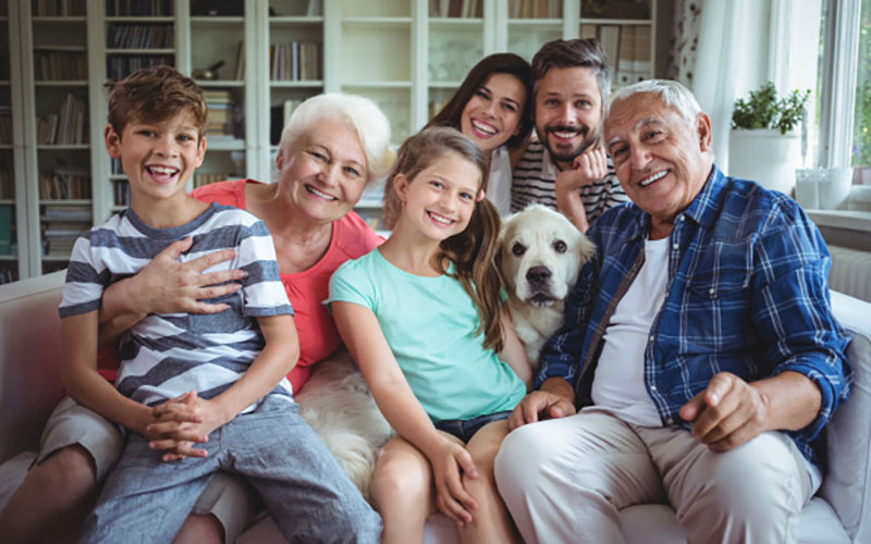 Picture of multi generational family for article on the purpose of genealogy.