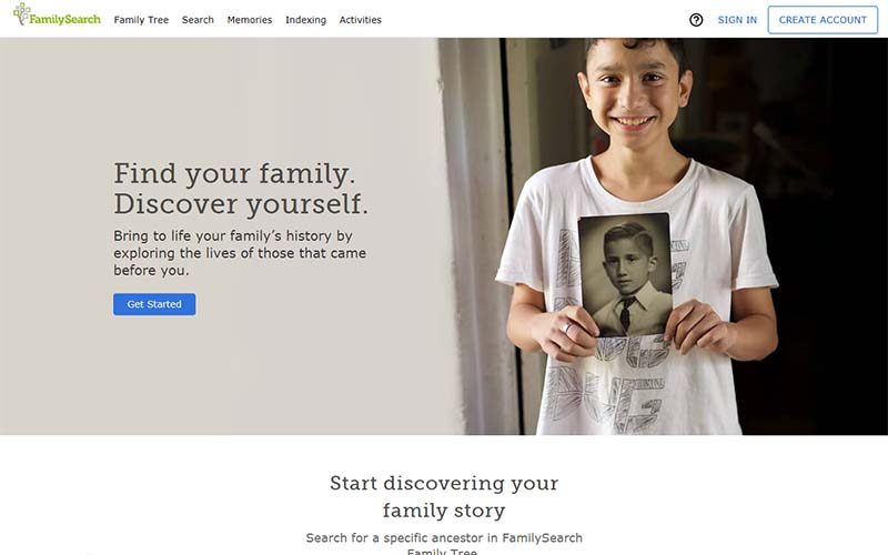 FamilySearch is one of the most accurate ancestry sites available